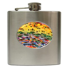 Car Painting Modern Art Hip Flask (6 oz)