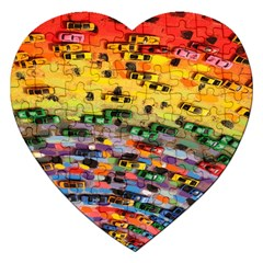 Car Painting Modern Art Jigsaw Puzzle (Heart)