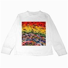 Car Painting Modern Art Kids Long Sleeve T-Shirts