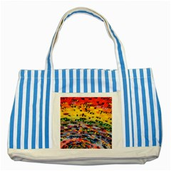 Car Painting Modern Art Striped Blue Tote Bag