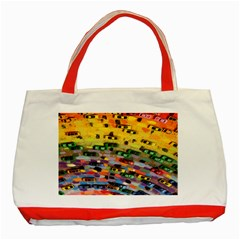 Car Painting Modern Art Classic Tote Bag (red)