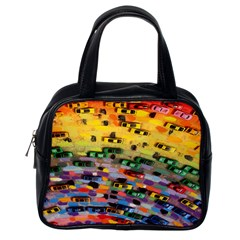 Car Painting Modern Art Classic Handbags (One Side)