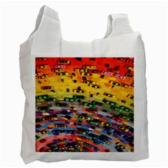 Car Painting Modern Art Recycle Bag (One Side)