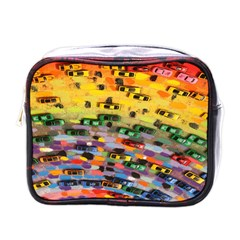 Car Painting Modern Art Mini Toiletries Bags