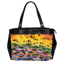 Car Painting Modern Art Office Handbags (2 Sides)