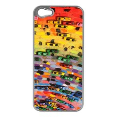 Car Painting Modern Art Apple Iphone 5 Case (silver)