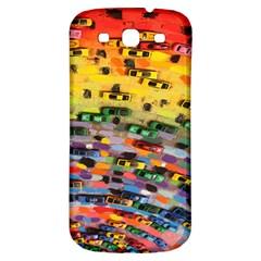 Car Painting Modern Art Samsung Galaxy S3 S III Classic Hardshell Back Case