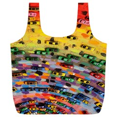 Car Painting Modern Art Full Print Recycle Bags (L)