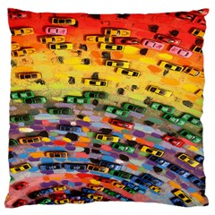 Car Painting Modern Art Large Flano Cushion Case (Two Sides)