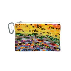 Car Painting Modern Art Canvas Cosmetic Bag (S)