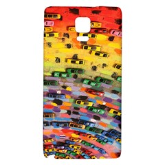 Car Painting Modern Art Galaxy Note 4 Back Case