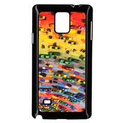 Car Painting Modern Art Samsung Galaxy Note 4 Case (Black)