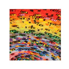 Car Painting Modern Art Small Satin Scarf (square)