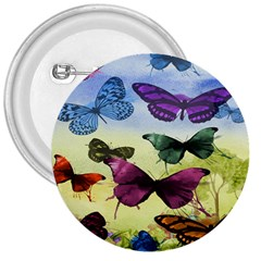 Butterfly Painting Art Graphic 3  Buttons