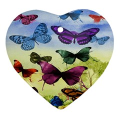 Butterfly Painting Art Graphic Ornament (Heart)