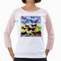 Butterfly Painting Art Graphic Girly Raglans