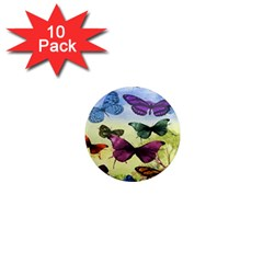 Butterfly Painting Art Graphic 1  Mini Magnet (10 pack)