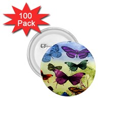 Butterfly Painting Art Graphic 1.75  Buttons (100 pack)