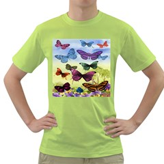 Butterfly Painting Art Graphic Green T-Shirt