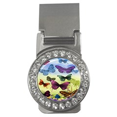 Butterfly Painting Art Graphic Money Clips (CZ)