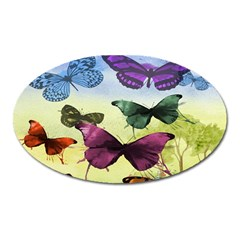 Butterfly Painting Art Graphic Oval Magnet