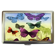 Butterfly Painting Art Graphic Cigarette Money Cases