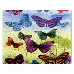 Butterfly Painting Art Graphic Rectangular Jigsaw Puzzl