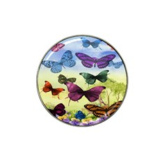 Butterfly Painting Art Graphic Hat Clip Ball Marker (4 Pack)