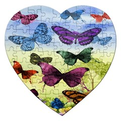 Butterfly Painting Art Graphic Jigsaw Puzzle (heart)