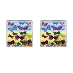 Butterfly Painting Art Graphic Cufflinks (Square)