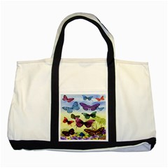 Butterfly Painting Art Graphic Two Tone Tote Bag