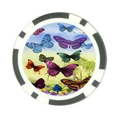 Butterfly Painting Art Graphic Poker Chip Card Guard