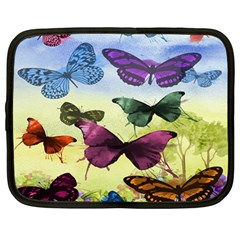 Butterfly Painting Art Graphic Netbook Case (Large)