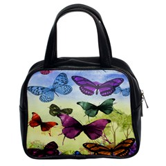 Butterfly Painting Art Graphic Classic Handbags (2 Sides)