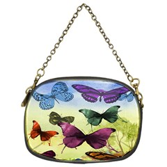Butterfly Painting Art Graphic Chain Purses (One Side)