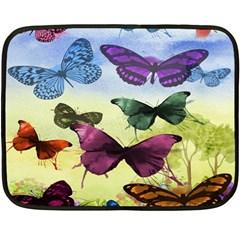 Butterfly Painting Art Graphic Fleece Blanket (Mini)