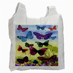 Butterfly Painting Art Graphic Recycle Bag (Two Side)