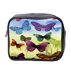 Butterfly Painting Art Graphic Mini Toiletries Bag 2-Side