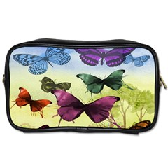 Butterfly Painting Art Graphic Toiletries Bags 2 Side