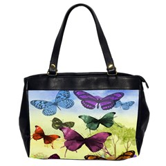 Butterfly Painting Art Graphic Office Handbags (2 Sides)