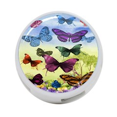 Butterfly Painting Art Graphic 4 Port Usb Hub (two Sides)