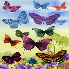 Butterfly Painting Art Graphic Magic Photo Cubes