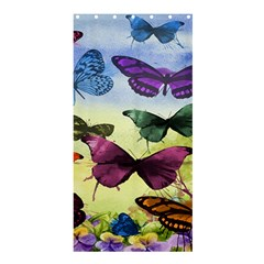 Butterfly Painting Art Graphic Shower Curtain 36  x 72  (Stall)