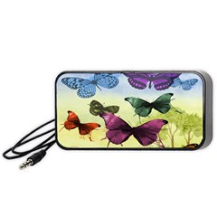 Butterfly Painting Art Graphic Portable Speaker (Black)