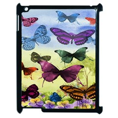 Butterfly Painting Art Graphic Apple iPad 2 Case (Black)