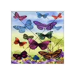 Butterfly Painting Art Graphic Acrylic Tangram Puzzle (4  X 4 )