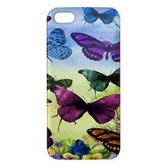 Butterfly Painting Art Graphic Apple Iphone 5 Premium Hardshell Case