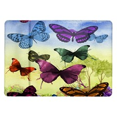 Butterfly Painting Art Graphic Samsung Galaxy Tab 10.1  P7500 Flip Case