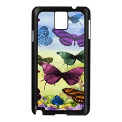 Butterfly Painting Art Graphic Samsung Galaxy Note 3 N9005 Case (Black)