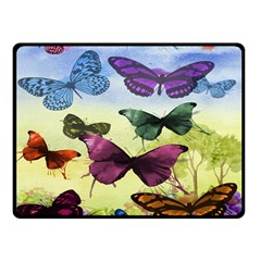 Butterfly Painting Art Graphic Double Sided Fleece Blanket (Small)